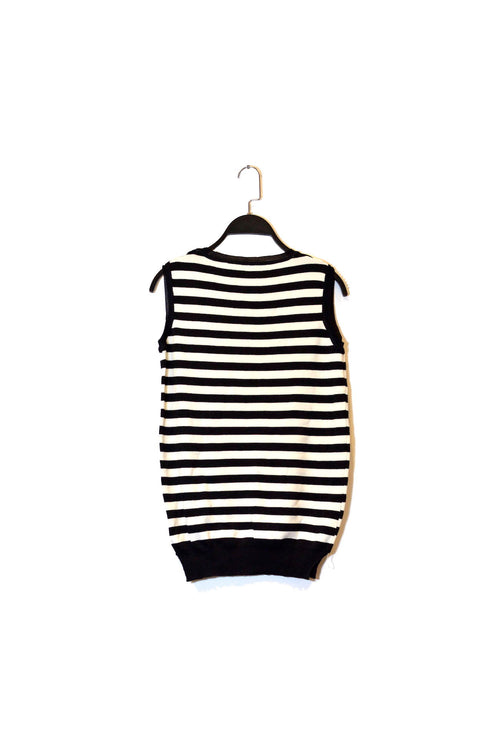 Black and White Striped Sleeveless Top!