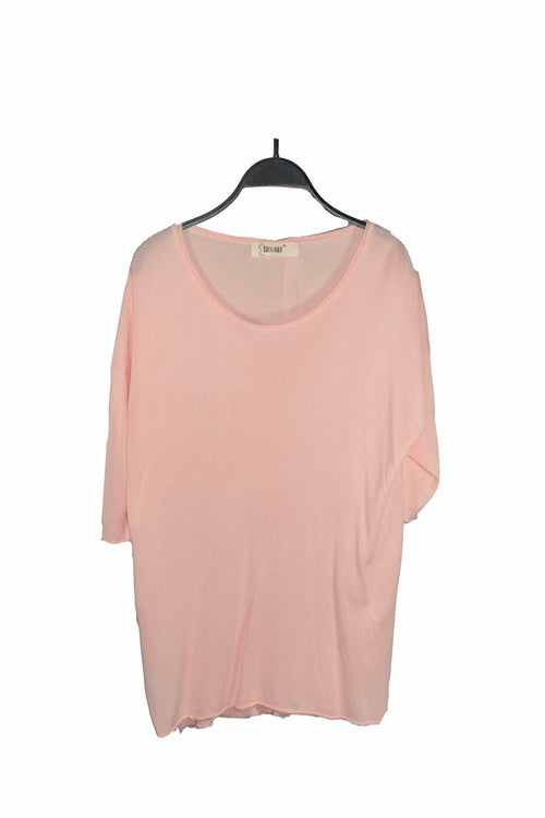 Pink Round Neck Top For Paring With Any Pants !