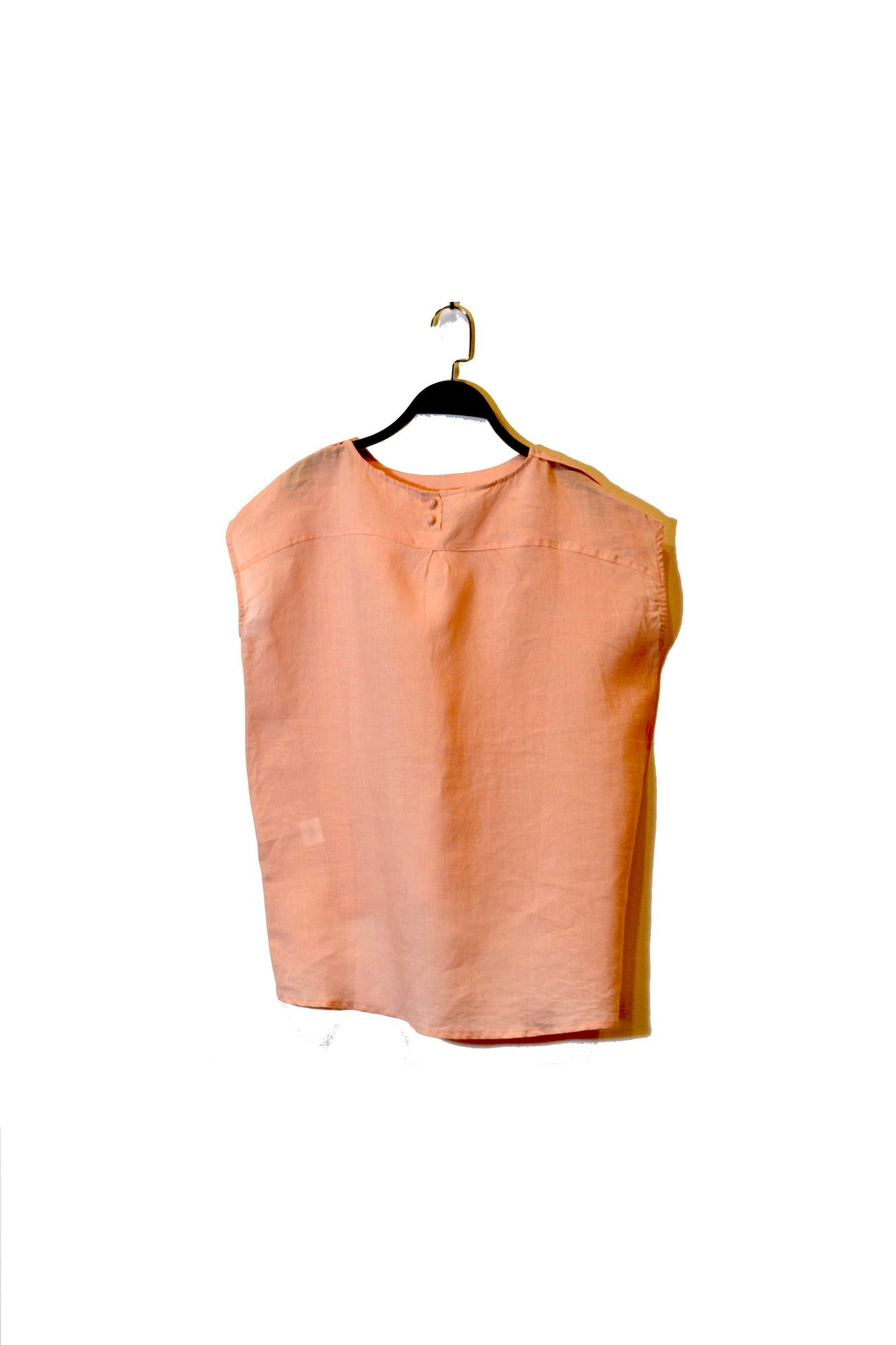 Pink Round Neck Sleeveless Top