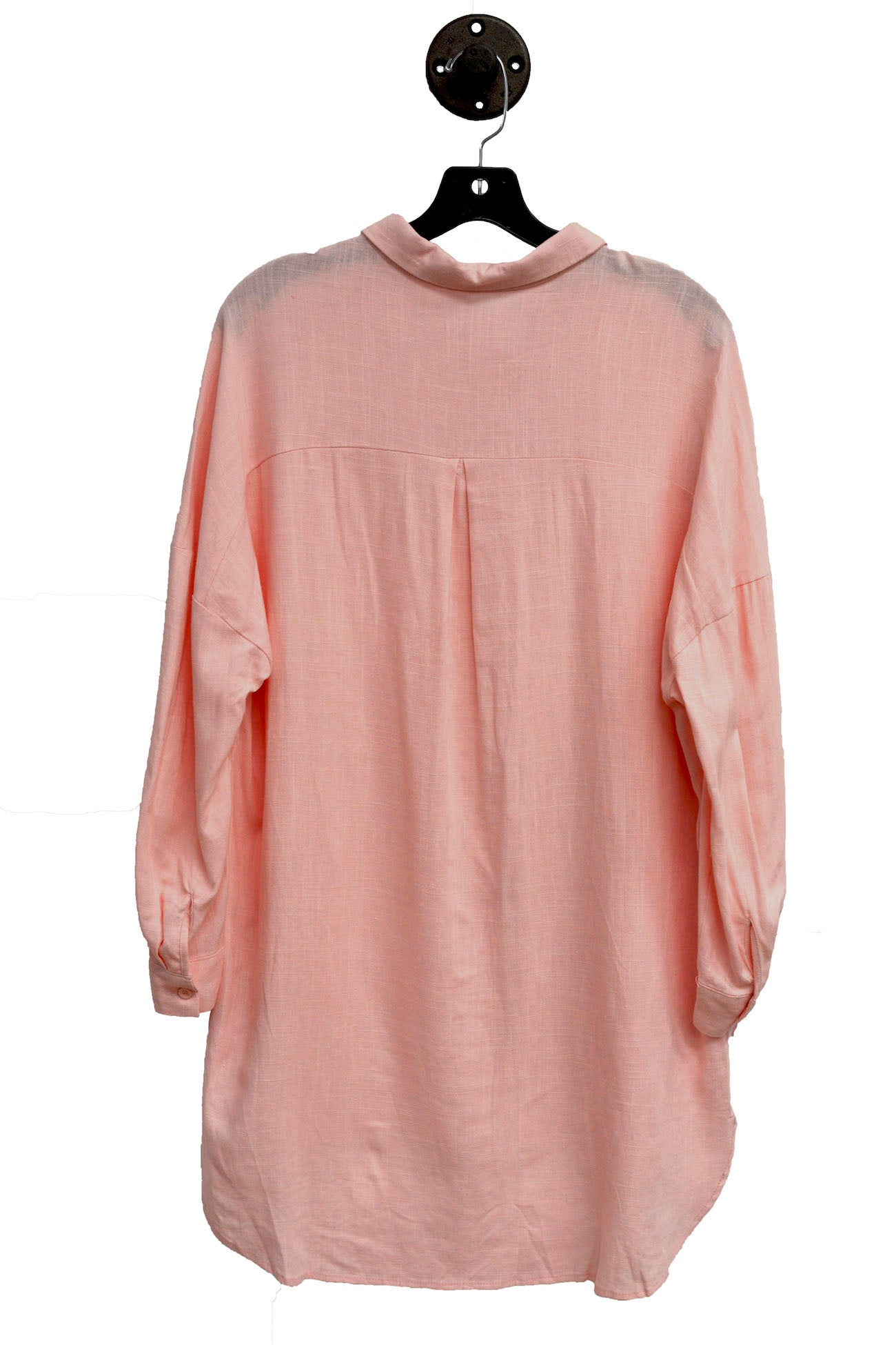 Pink Boyfriend Shirt That Is Oversized Fit With Buttons