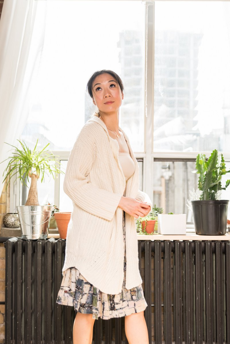 Cream Oversized Knit Cardigan With 2 Snap Front Buttons