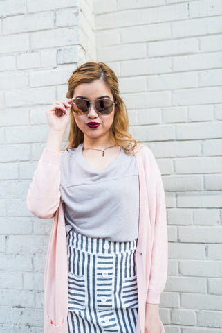 Grey Oversized Cocoon Cardigan
