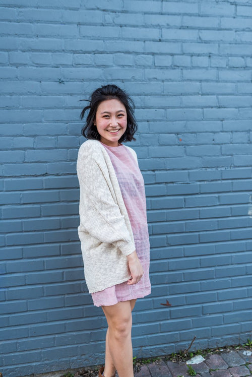 Coconut Cream Cocoon Cardigan!
