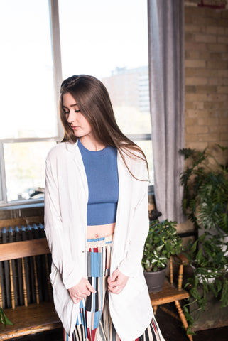 Blue Light Weight Cardigan
