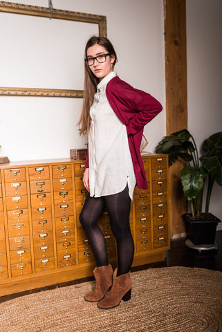 Brown Dolman Button down Cardigan