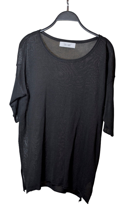 BLACK ROUND NECK TOP