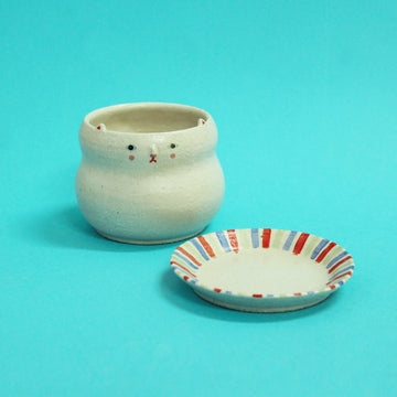 Original Kitty Pot (M) with dish