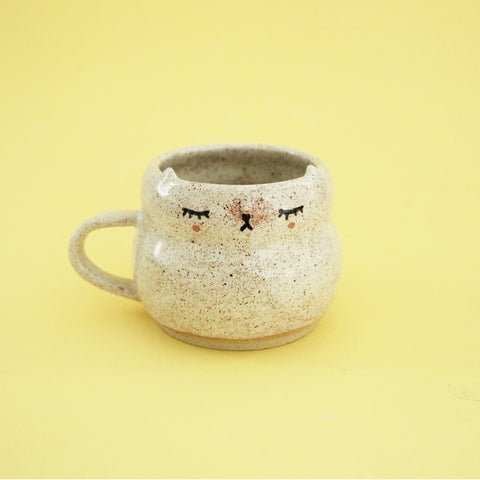 Kitty Cup - Speckled Cream