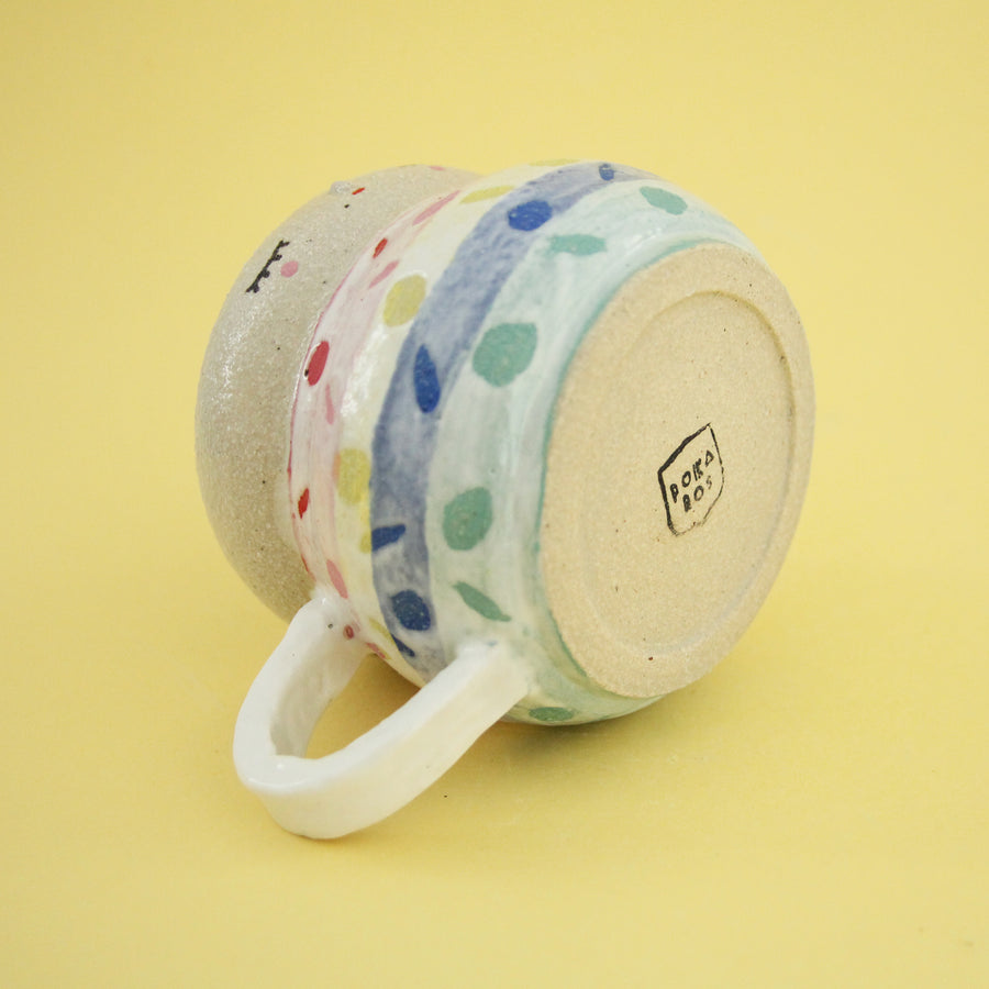 Mija Cup - Rainbow Confetti on White cream