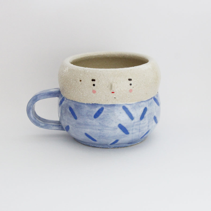 Mijo Cup - Blue Confetti on White cream