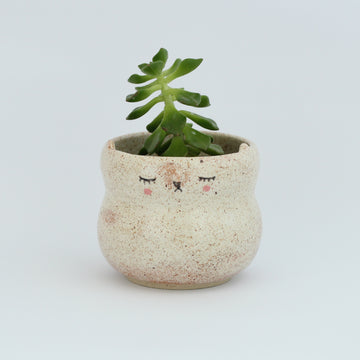 Kitty Pot (Small) - Speckled Cream