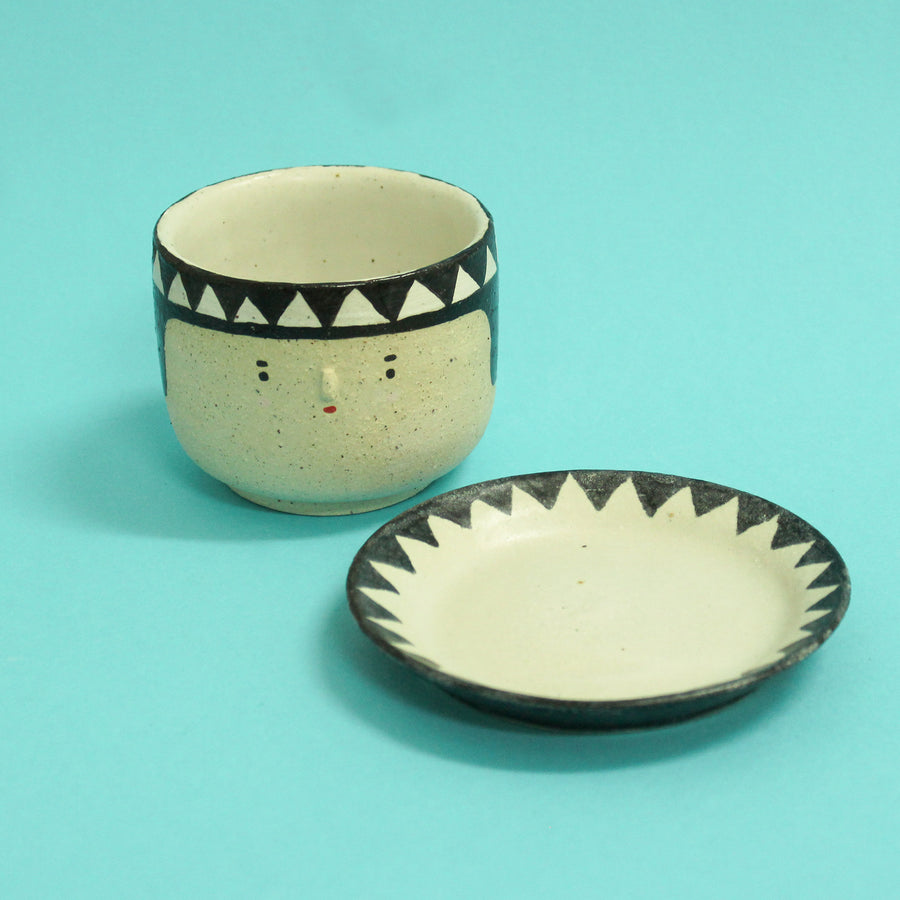 Miho Tea Cup and Dish Set