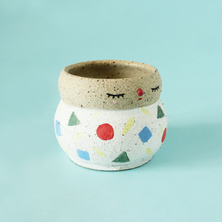 Pierrot Pot (Small) - Shapes