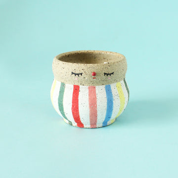 Pierrot Pot (Small) - Stripey