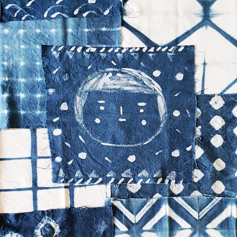Shibori + Wax-resist Indigo Workshop