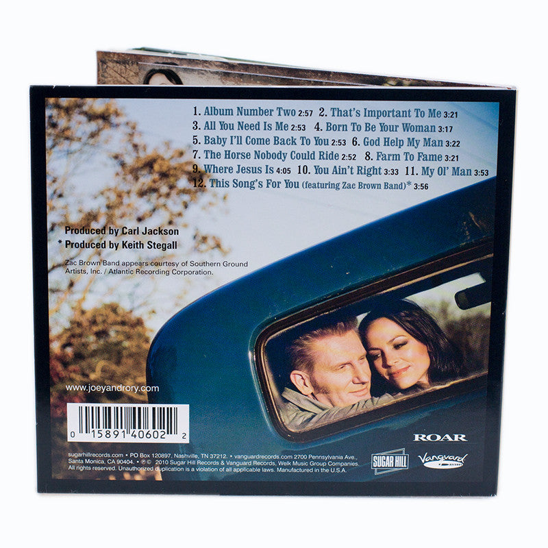 Album Number Two Cd Joey Rory Store