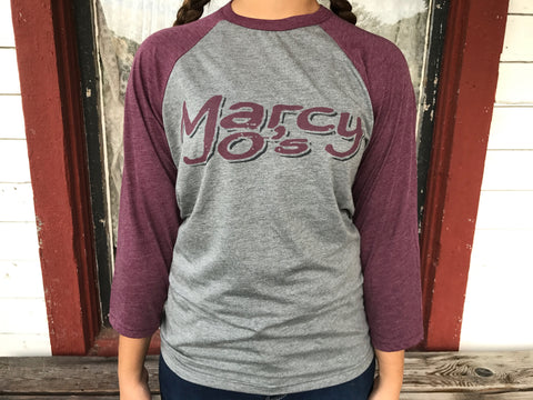 MarcyJo's Grey and Maroon Baseball shirt
