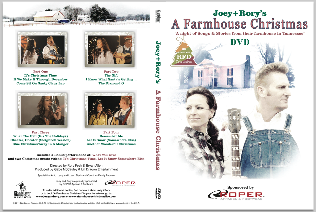 A Farmhouse Christmas DVD – Joey+Rory Store