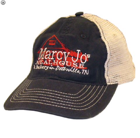 Marcy Jo's Navy and Cream Ballcap