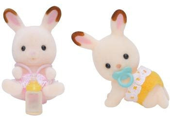 SYLVANIAN 5080 Chocolate Rabbit Twins