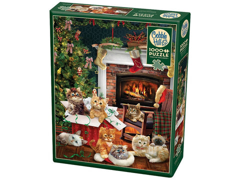 Cobble Hill CHRISTMAS KITTENS 1000pc jigsaw puzzle