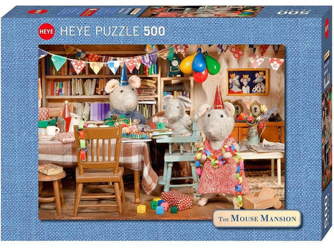 Heye MOUSE MANSION Celebration 500pc jigsaw