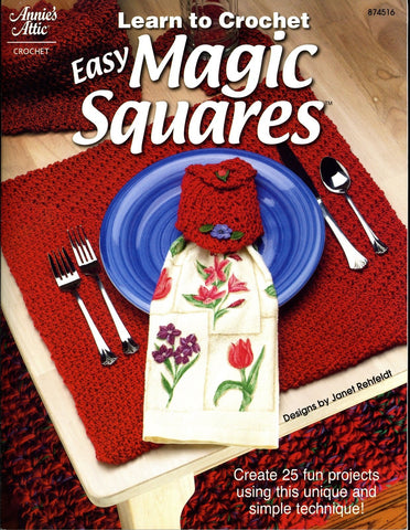 Learn To Crochet EASY MAGIC SQUARES book ANNIE'S CROCHET