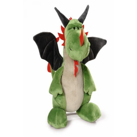 NICI Dragon Green/Red sitting 20cm