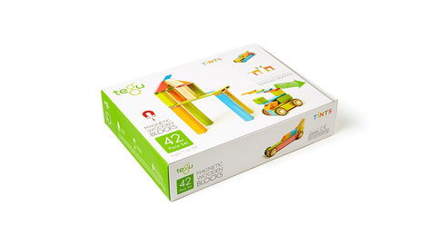 TEGU Magnetic Wooden Blocks 42pc TINTS