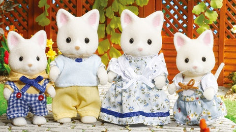 SYLVANIAN 4175 Silk Cat Family