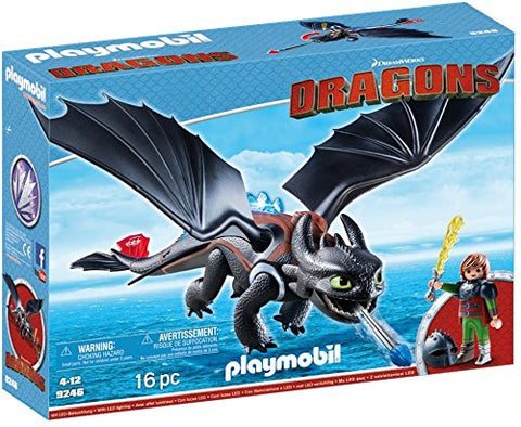 PLAYMOBIL 9246 DRAGONS Hiccup & Toothless with LED effects