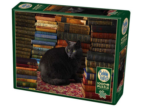 Cobble Hill LIBRARY CAT 1000pc jigsaw