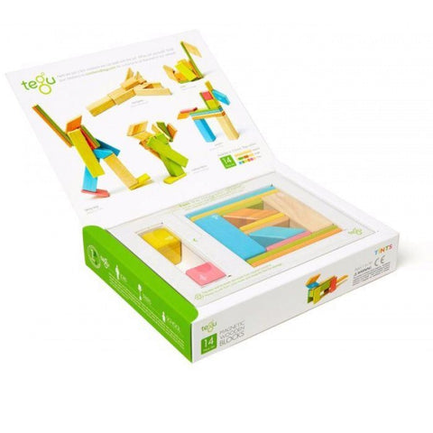 TEGU Magnetic Wooden Blocks 14pc TINTS