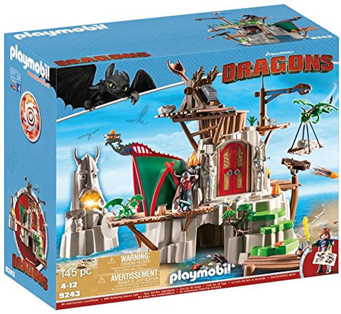 PLAYMOBIL 9243 DRAGONS Berk Island Fortress with Cannons