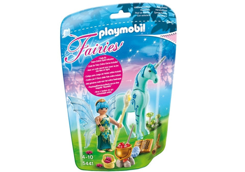 PLAYMOBIL 5441 Healer Fairy & Unicorn Sapphire Night