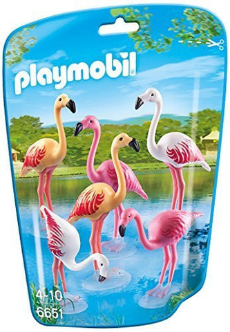 PLAYMOBIL 6651 ZOO Flock of Flamingos