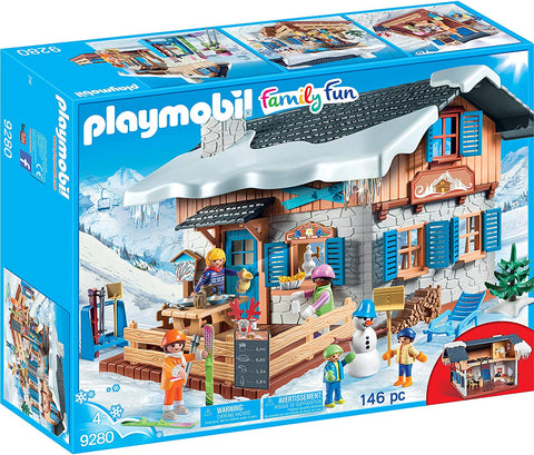 PLAYMOBIL 9280 FAMILY FUN Ski Lodge set WINTER FUN