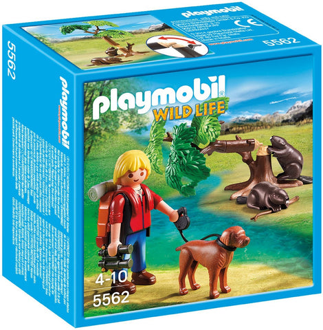 PLAYMOBIL 5562 WILDLIFE Beavers with Backpacker