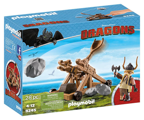 PLAYMOBIL 9245 DRAGONS Gobber with Catapult set