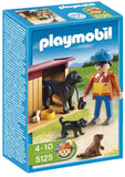 PLAYMOBIL 5125 FARM Country Boy with Dogs and Kennel