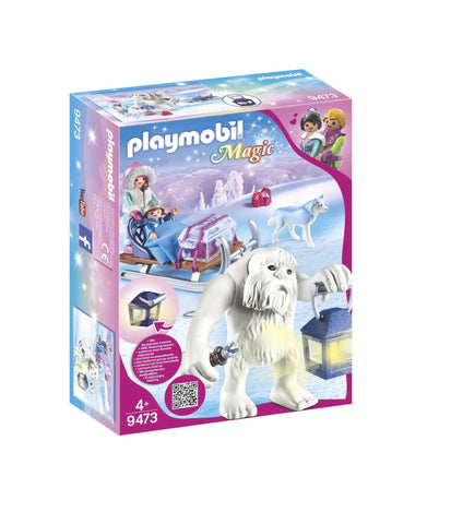PLAYMOBIL 9473 CRYSTAL PALACE Yeti with Sleigh