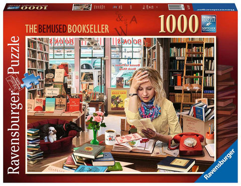 RAVENSBURGER The Bemused Bookseller 1000pc jigsaw puzzle