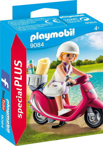 PLAYMOBIL 9084 SPECIAL PLUS Beachgoer Girl with Scooter