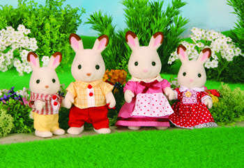 SYLVANIAN 4150 Chocolate Rabbit Family