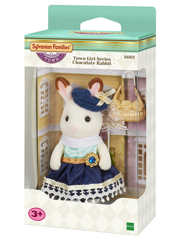 SYLVANIAN FAMILIES 6002 Town Girl Chocolate Rabbit Stella