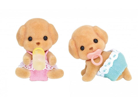 SYLVANIAN 5261 Toy Poodle Twins