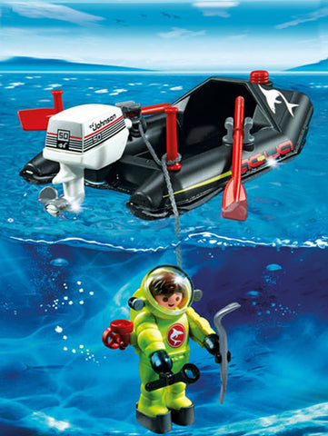 PLAYMOBIL 4910 Dinghy & Deep Sea Diver