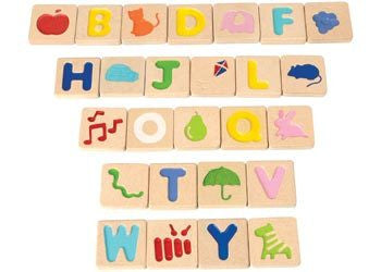 PlanToys Alphabet A-Z wooden blocks