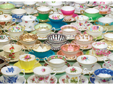 Cobble Hill TEA CUPS 1000pc jigsaw