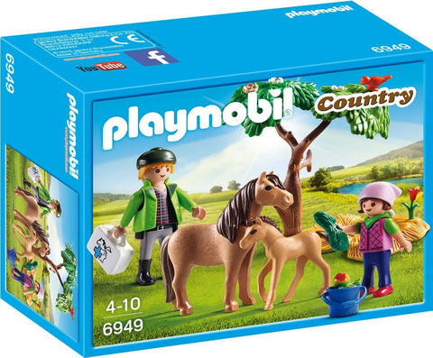 PLAYMOBIL 6949 Vet with Pony & Foal